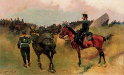 Artillery Maneuvers | Josep Cusachs | Oil Painting
