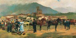 The Horse Fair | Josep Cusachs | Oil Painting