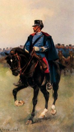 Dragoon Officer | Josep Cusachs | Oil Painting