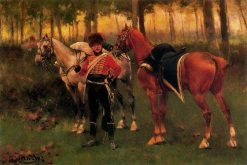 French Hussar | Josep Cusachs | Oil Painting