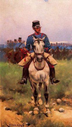 Cavalry Trumpet | Josep Cusachs | Oil Painting