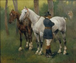 Awaiting the Return | Josep Cusachs | Oil Painting