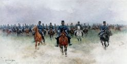 Cavalry | Josep Cusachs | Oil Painting