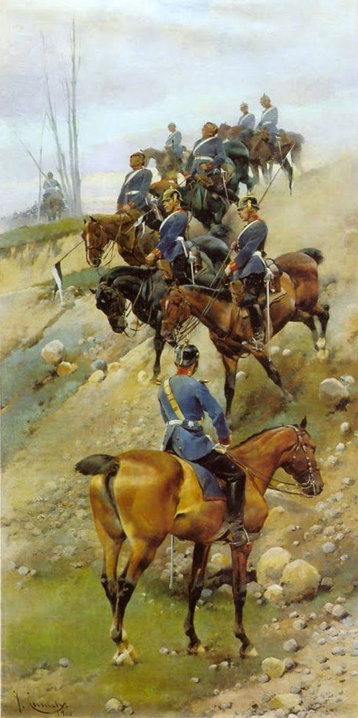 Lancers   Josep Cusachs   Oil Painting
