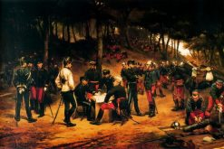 A Military Camp   Josep Cusachs   Oil Painting