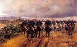 Lancers | Josep Cusachs | Oil Painting