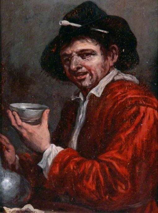 Man Holding a Cup and a Wine Bottle | Joos van Craesbeeck | Oil Painting