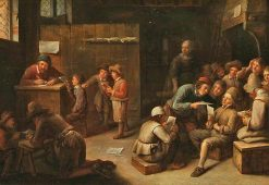 A School Interior | Joos van Craesbeeck | Oil Painting