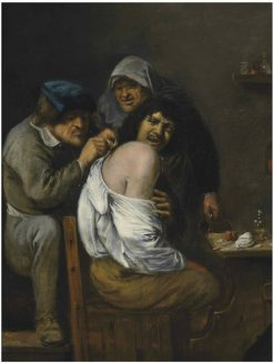 An interior with a doctor treating a patient | Joos van Craesbeeck | Oil Painting