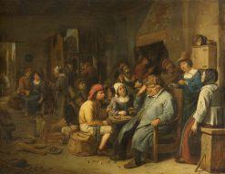 Company of Farmers in a Tavern | Joos van Craesbeeck | Oil Painting