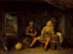 The Smokers | Joos van Craesbeeck | Oil Painting