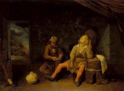 The Smokers | Joos van Craesbeeck | Oil Painting