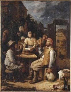 The Mussel Eaters | Joos van Craesbeeck | Oil Painting