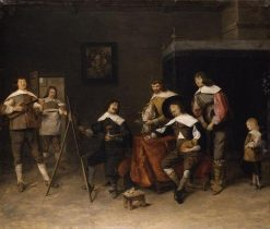 In the Painters Studio | Joos van Craesbeeck | Oil Painting