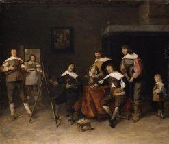 In the Painters Studio | Joos van Craesbeeck | Oil Painting