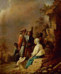 Soldiers and Women | Joos van Craesbeeck | Oil Painting