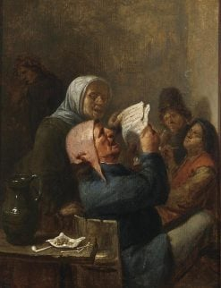 A man and a woman singing in an inn | Joos van Craesbeeck | Oil Painting