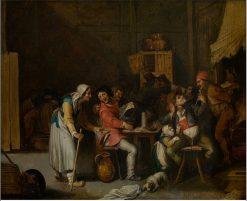The Female Beggar in the Tavern | Joos van Craesbeeck | Oil Painting