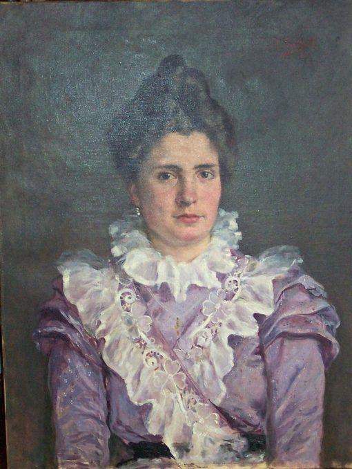 Portrait of Daría Mompó y Mompó. | Vicente Castell y Domenech | Oil Painting