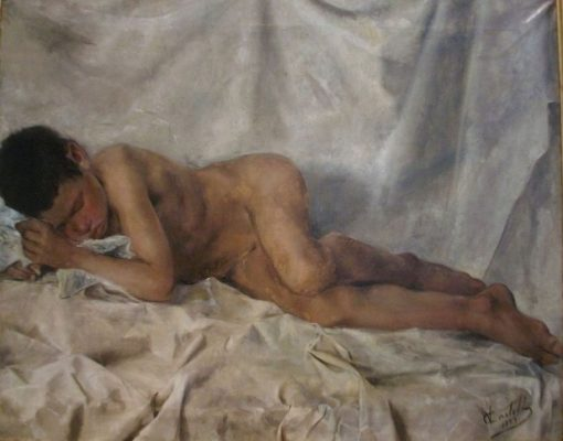 Nude Boy | Vicente Castell y Domenech | Oil Painting