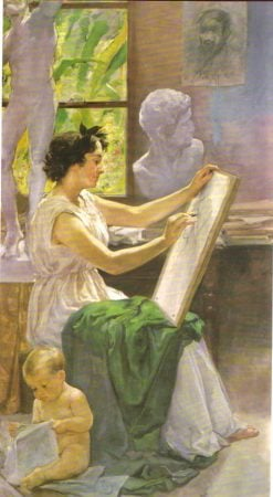 Allegory of Drawing | Vicente Castell y Domenech | Oil Painting