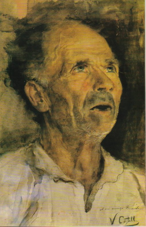 Head of an Old Man | Vicente Castell y Domenech | Oil Painting