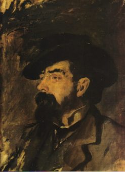 Portrait of Francisco Tarrega | Vicente Castell y Domenech | Oil Painting