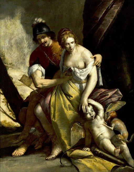 Mars and Venus | Simone Cantarini | Oil Painting