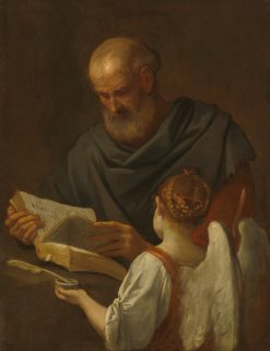 Saint Matthew and the Angel | Simone Cantarini | Oil Painting