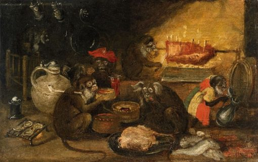 A Monkey Corporation | Abraham Teniers | Oil Painting