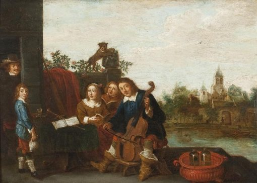 A family makes music | Abraham Teniers | Oil Painting