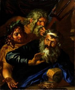 Laomedon Refusing Payment to Poseidon and Apollo | Joachim von Sandrart | Oil Painting