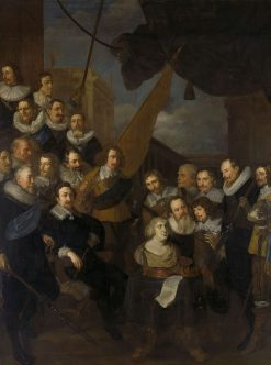 Officers and Other Members of the Militia of District XIX in Amsterdam | Joachim von Sandrart | Oil Painting
