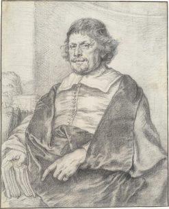 Portrait of Caspar Barlaeus | Joachim von Sandrart | Oil Painting
