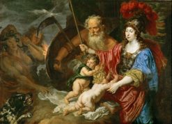 Minerva and Saturn protect Art and Science of envy and falsehood | Joachim von Sandrart | Oil Painting