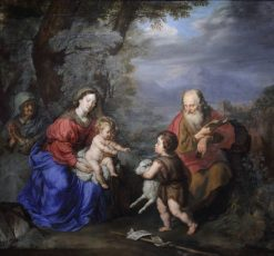 The Holy Family in a Landscape | Joachim von Sandrart | Oil Painting