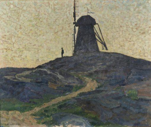 The Windmill   Carl Wilhelm Wilhelmson   Oil Painting