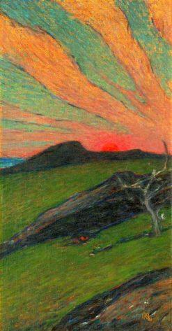 Sunset   Karl Nordström   Oil Painting