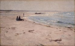 From the Beach at Sele | Eilif Peterssen | Oil Painting