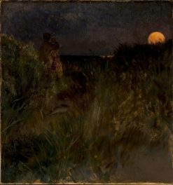 Moonrise over the Dunes | Eilif Peterssen | Oil Painting