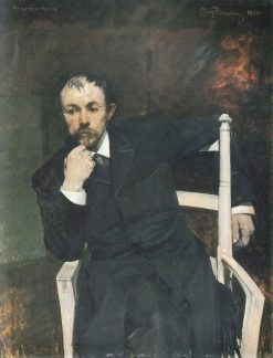 Portrait of Arne Garborg | Eilif Peterssen | Oil Painting