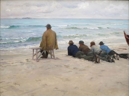 On the Look-out   Eilif Peterssen   Oil Painting
