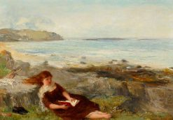 Girl Reading by the Shore | James Clarke Hook