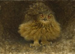 An Eagle Owl | Bruno Liljefors | Oil Painting