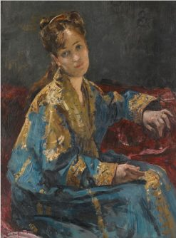 Lady in Blue | Alfred Emile Leopold Stevens | Oil Painting