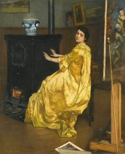 In the Studio | Alfred Emile Leopold Stevens | Oil Painting