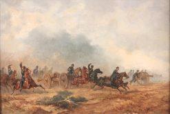 Battle Scene | Charles Augustin Victor Doerr | Oil Painting