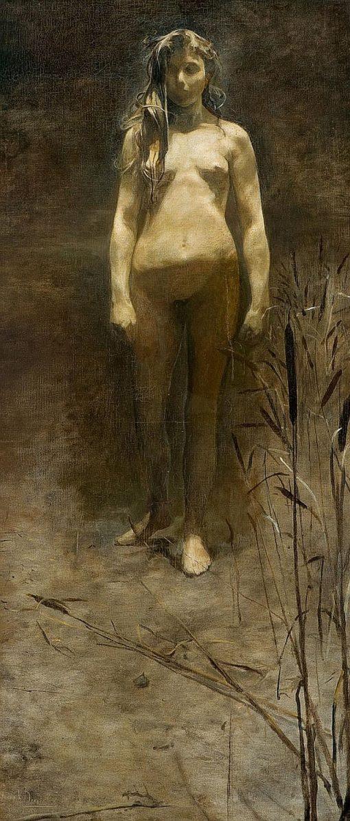 Standing Nude | Joseph Dierickx | Oil Painting