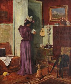 Woman in an Interior | Clovis-Francois-Auguste Didier | Oil Painting