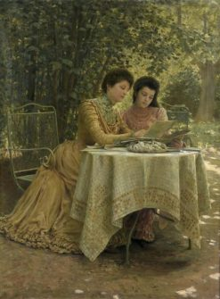Reading in the Garden | Clovis-Francois-Auguste Didier | Oil Painting